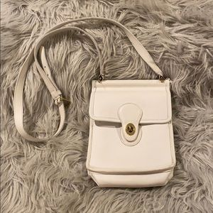 Vintage White Coach Crossbody Purse